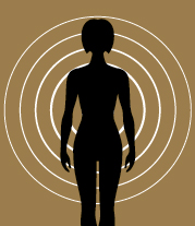 standing body with four circle surrounding the body